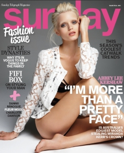 Sunday Telegraph Magazine March 13 2011 Abbey Lee Kershaw
