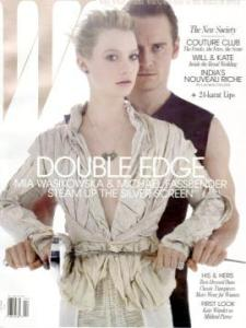 W April 2011 Mia Wasikowska & Michael Fassbender