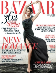 Harpers Bazaar Singapore April 2011 Nicole Trunfio